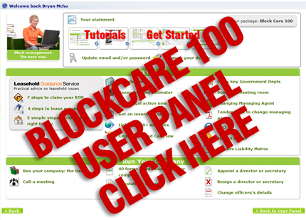 View User Panel - BlockCare 100